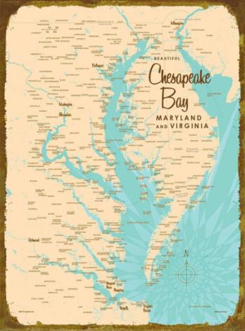 Map of the Chesapeake Bay