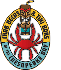Crab Decks & Tiki Bars of the Chesapeake Bay Logo